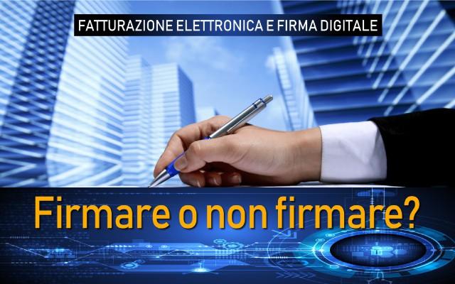 Firma Digitale sulla Fattura Elettronica