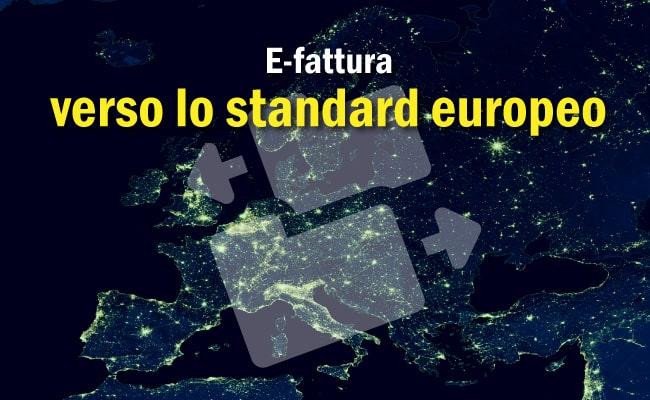 fatturazione elettronica PA: formato europeo fattura elettronica
