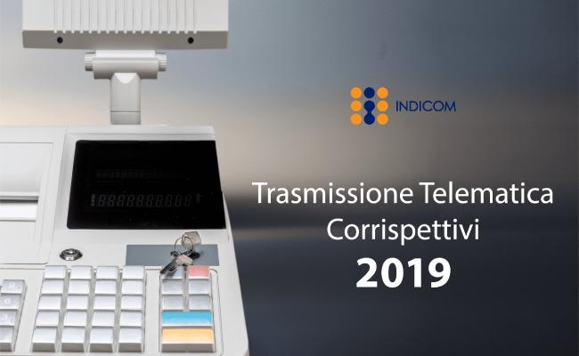 trasmissione telematica corrispettivi 2019